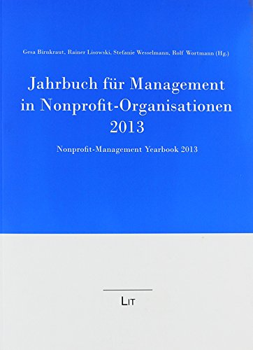 9783643123442: Jahrbuch für Management in Nonprofit-Organisationen 2013: Nonprofit Management Yearbook 2013
