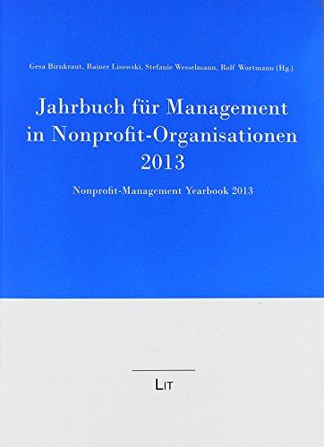 9783643123442: Jahrbuch für Management in Nonprofit-Organisationen 2013