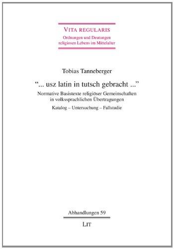 usz latin in tutsch gebracht .: Tobias Tanneberger