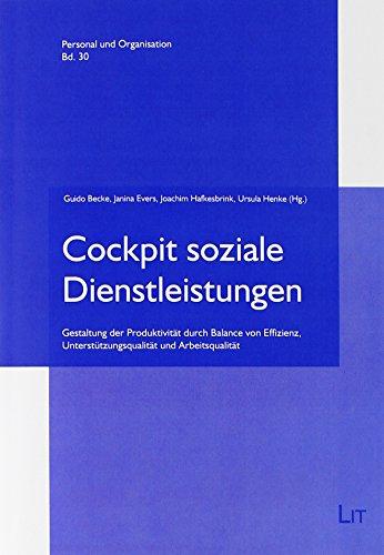 9783643127686: Cockpit soziale Dienstleistungen: Gestaltung der Produktivit�t durch Balance von Effizienz, Unterst�tzungsqualit�t und Arbeitsqualit�t