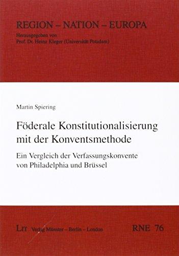 9783643129697: Föderale Konstitutionalisierung mit der Konventsmethode