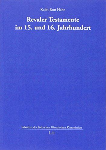 9783643132031: Revaler Testamente im 15. und 16. Jahrhundert