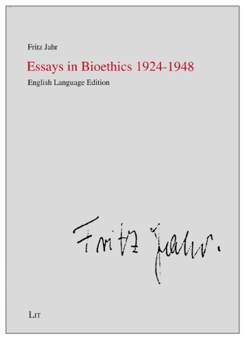 9783643903372: Essays in Bioethics 1924-1948 (Practical Ethics - Documentation / Ethik in der Praxis - Materialien)
