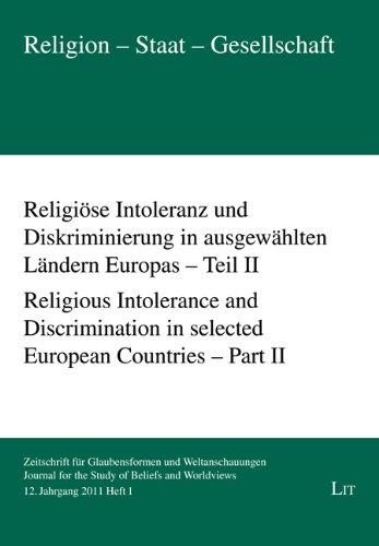 Religiöse Intoleranz und Diskriminierung in ausgewählten Ländern Europas - Teil II. ...