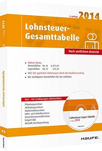 Lohnsteuer-Gesamttabelle 2014, m. CD-ROM