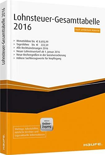Lohnsteuer-Gesamt-Tabelle plus Onlinezugang