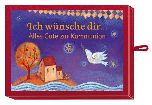 9783649604709: Ich wünsche dir ... Alles Gute zur Kommunion (rot), Mini-Leporello