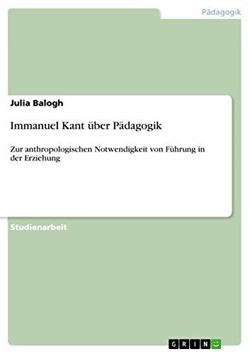 9783656008354: Immanuel Kant über Pädagogik (German Edition)