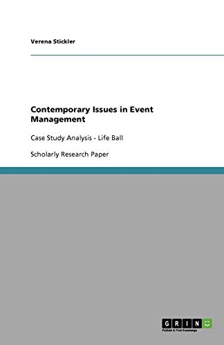 9783656009115: Contemporary Issues in Event Management