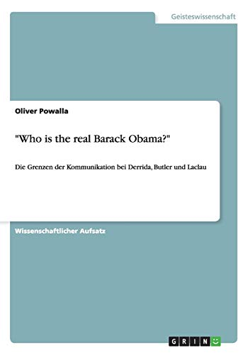 Who Is the Real Barack Obama?: Oliver Powalla