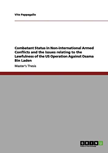 Combatant Status in Non-international Armed Conflicts and: Vito Pappagallo