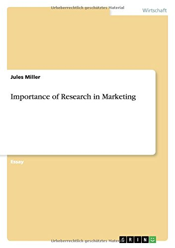 9783656032892: Importance of Research in Marketing (German Edition)