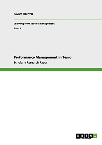 9783656032915: Performance Management in Tesco