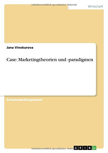 Case: Marketingtheorien Und -Paradigmen: Jana Vinokurova