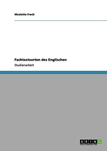 Fachtextsorten Des Englischen: Nicolette Frech