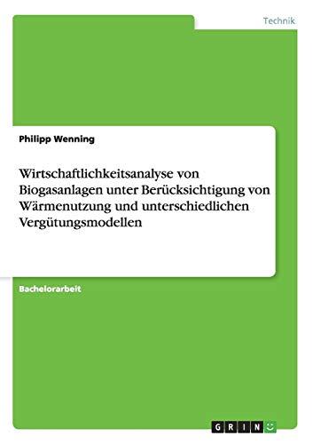 Wirtschaftlichkeitsanalyse von Biogasanlagen: Philipp Wenning