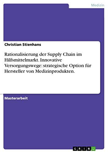 Rationalisierung Der Supply Chain Im Hilfsmittelmarkt. Innovative Versorgungswege: Strategische ...