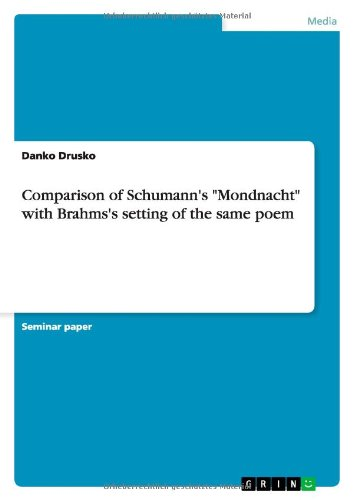 9783656074748: Comparison of Schumann's
