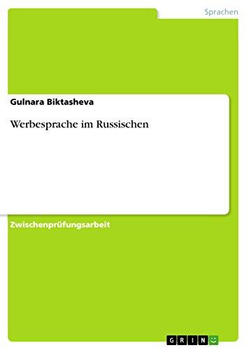 Werbesprache Im Russischen: Gulnara Biktasheva
