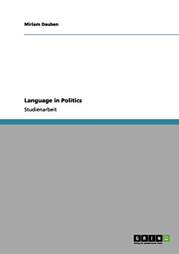 9783656075646: Language in Politics