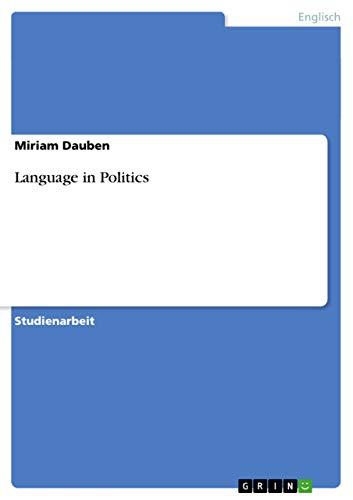 9783656075646: Language in Politics (German Edition)