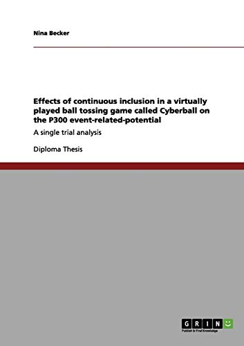 9783656082446: Effects of continuous inclusion in a virtually played ball tossing game called Cyberball on the P300 event-related-potential