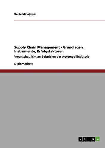 Supply Chain Management - Grundlagen, Instrumente, Erfolgsfaktoren: Xenia Mihajlovic
