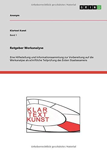 9783656104117: Ratgeber Werkanalyse