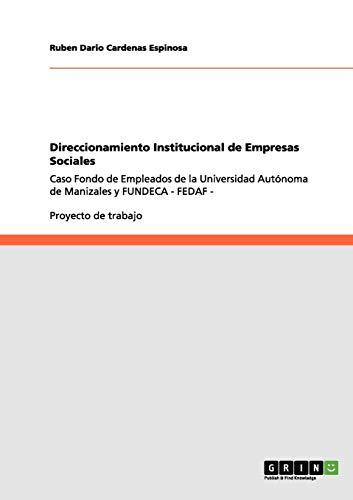 9783656108696: Direccionamiento Institucional de Empresas Sociales