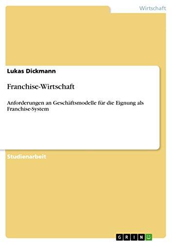 9783656115823: Franchise-Wirtschaft