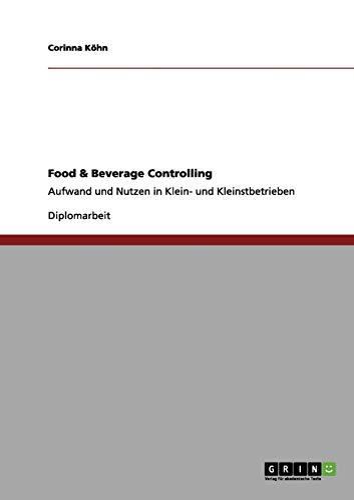 9783656123934: Food & Beverage Controlling (German Edition)