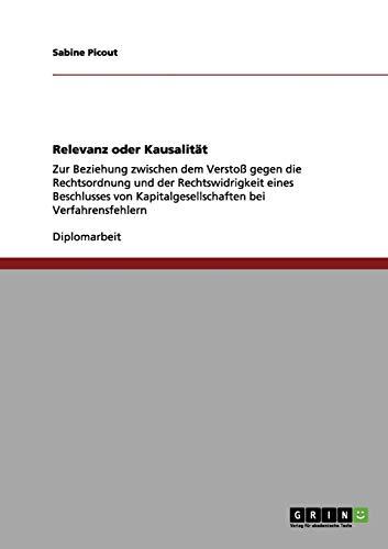 9783656130215: Relevanz oder Kausalität (German Edition)