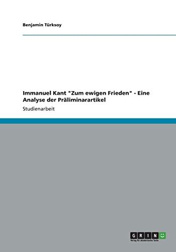"""Immanuel Kant """"Zum ewigen Frieden"""" - Eine: Benjamin Türksoy"""