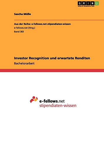 9783656142331: Investor Recognition und erwartete Renditen (German Edition)