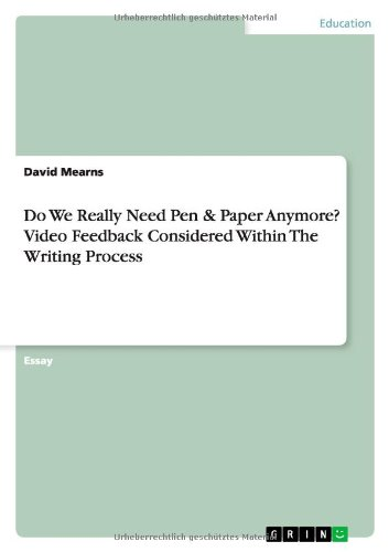 Do We Really Need Pen and Paper: Mearns, David