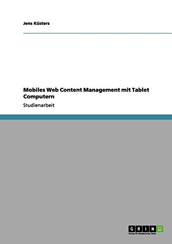 Mobiles Web Content Management Mit Tablet Computern
