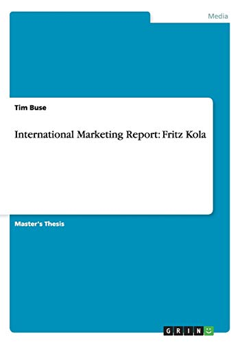 9783656161332: International Marketing Report: Fritz Kola