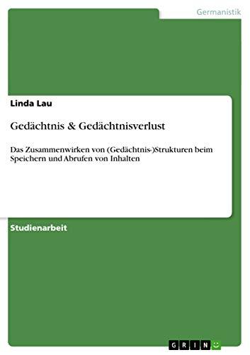 9783656164111: Gedächtnis & Gedächtnisverlust (German Edition)
