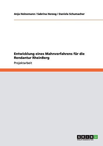 Entwicklung Eines Mahnverfahrens Fur Die Rendantur Rheinberg: Anja Heinemann