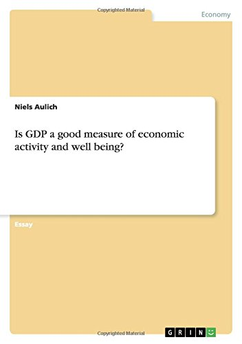 Is Gdp a Good Measure of Economic Activity and Well Being?: Niels Aulich