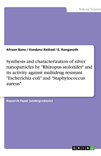 Synthesis and Characterization of Silver Nanoparticles by: Afreen Banu