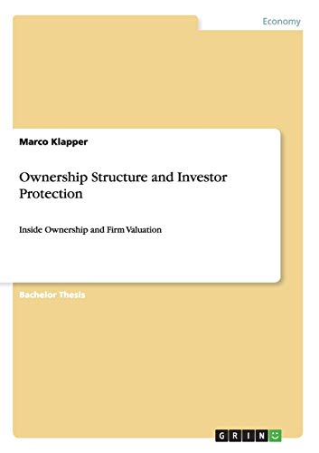 9783656224129: Ownership Structure and Investor Protection