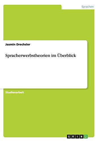 Spracherwerbstheorien Im Uberblick: Drechsler, Jasmin
