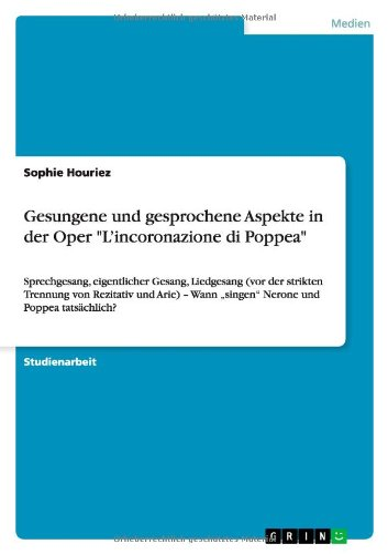 Gesungene und gesprochene Aspekte in der Oper: Sophie Houriez