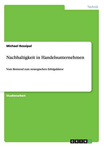 Nachhaltigkeit in Handelsunternehmen: Michael Rossipal