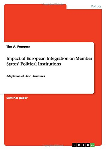 9783656274780: Impact of European Integration on Member States' Political Institutions: Adaptation of State Structures