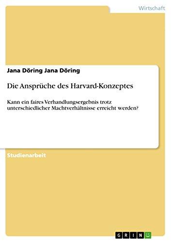 9783656276654: Die Anspruche Des Harvard-Konzeptes (German Edition)