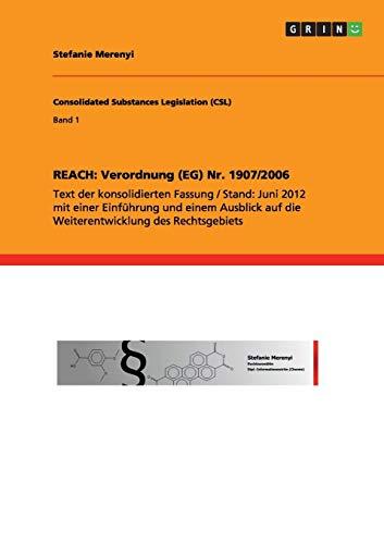 9783656281214: REACH: Verordnung (EG) Nr. 1907/2006 (German Edition)