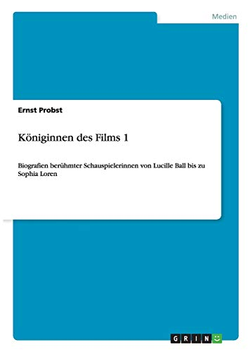 9783656288152: Königinnen des Films 1 (German Edition)