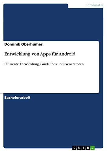 9783656294450: Entwicklung von Apps für Android (German Edition)